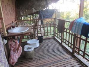 Baño en una de las cabañas