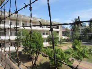 Vista del Patio de Tuol Sleng