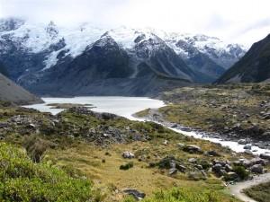 Lago en hooker valley