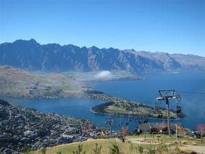 Vista sobre Queenstown