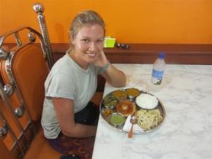 Comida india en Nadi: un thali