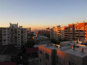 Vista desde nuestro apartamento en Santiago