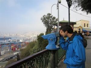 Contemplando Valparaíso lo alto