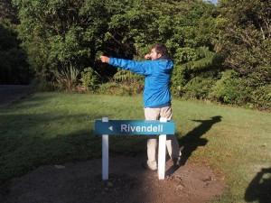 Momento friki en Kaitoke Regional Park