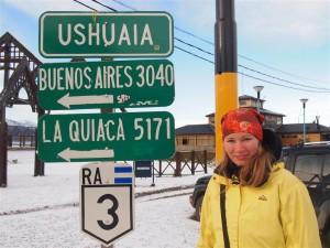 En Ushuaia, a 3000 Km. de Buenos Aires!