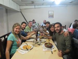 De cena en la Peña