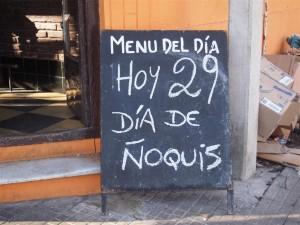 29, día de los Ñoquis