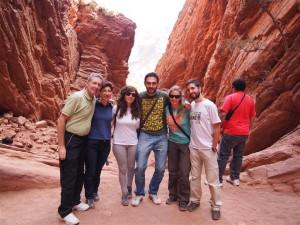 Intrépidos exploradores en la Quebrada de Cafayate