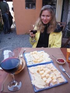 Quesos y vino uruguayos