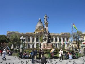 Plaza Murillo, en pleno centro de La Paz