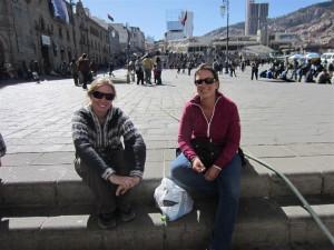 Con Olivia en la Plaza de San Francisco