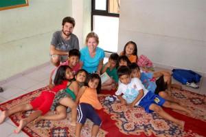 Con los niños de la guardería