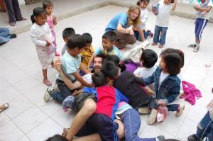 Con los niños de la guarde