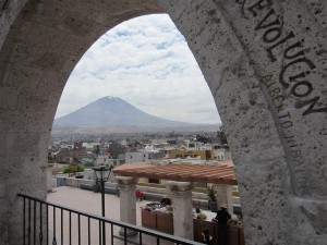 Vista desde el mirador Yanahuara, Arequipa