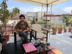 De relax en la terraza del hostal
