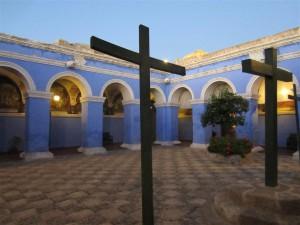 Uno de los claustros del monasterio