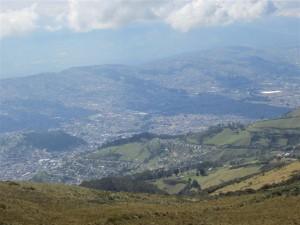 Vista de Quito una vez subido el telefériQo