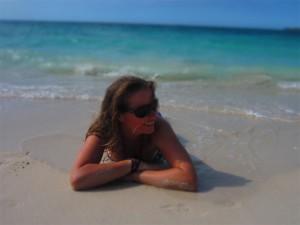 Relajándonos en Playa Blanca