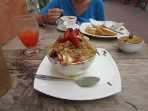 Rico desayuno en Lulos