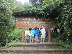En la montaña más alta de Tailandia