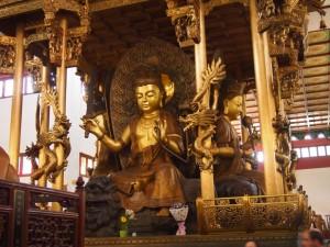 Estatua en el templo
