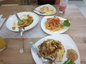 Comida tailandesa, te echaremos de menos!!!