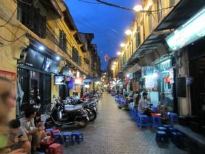 En el barrio antiguo de Hanoi